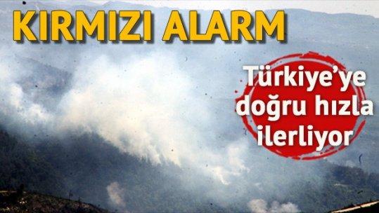 Türkmendağı alev alev