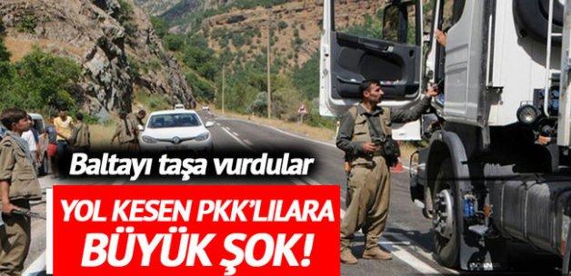 Yol kesen PKK'lılar polise denk geldi!
