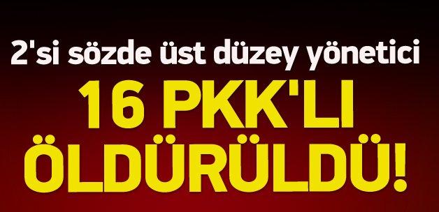 Yüksekova'da PKK'ya darbe: 16 terörist öldürüldü