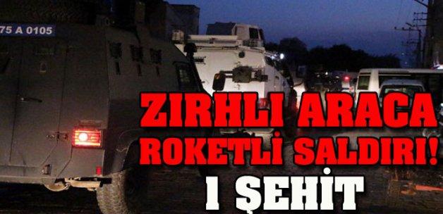 Zırhlı araca roketli saldırı! 1 polis şehit, 2 yaralı