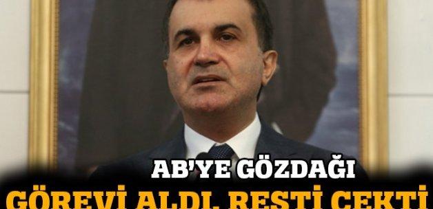 AB Bakanı Çelik, görevi aldı resti çekti