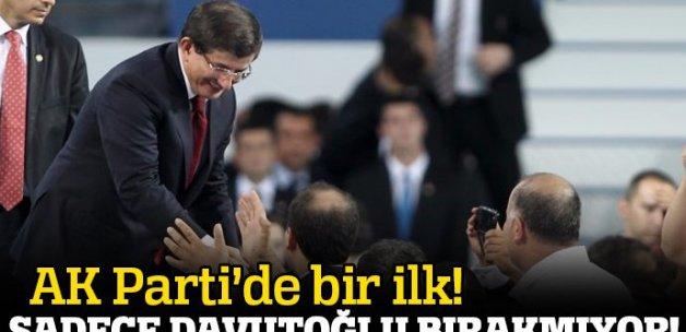 AK Parti'de bir ilk: Sadece Davutoğlu bırakmıyor!