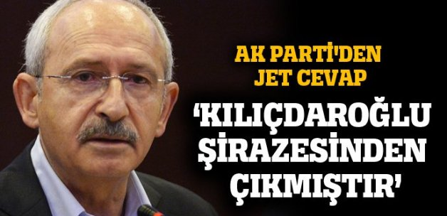 AK Parti'den Kılıçdaroğlu'na jet cevap!