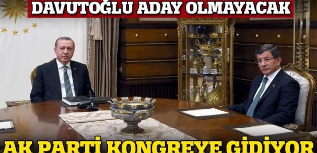 AK Parti kongreye gidiyor! Davutoğlu aday olmayacak