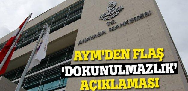 Anayasa Mahkemesi'nden flaş 'dokunulmazlık' kararı