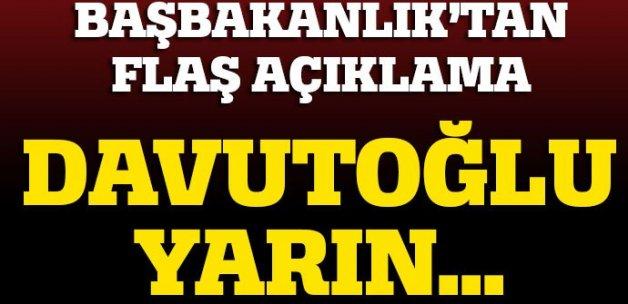 Başbakan Davutoğlu yarın basın toplantısı düzenleyecek