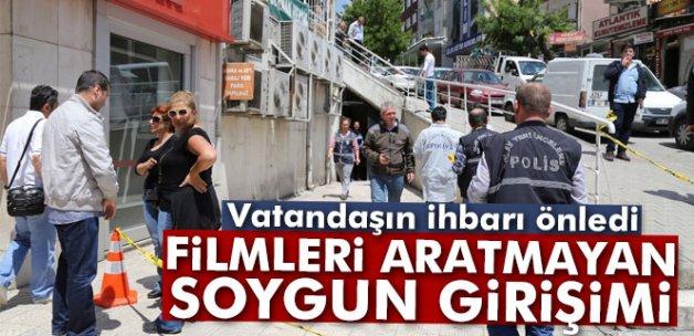 Başkent'te filmleri aratmayan soygun girişimi
