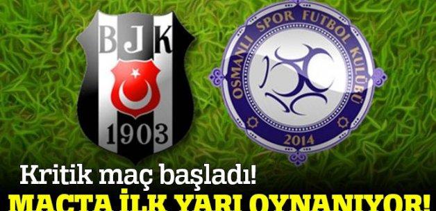 Beşiktaş Osmanlıspor  maç skoru kaç kaç