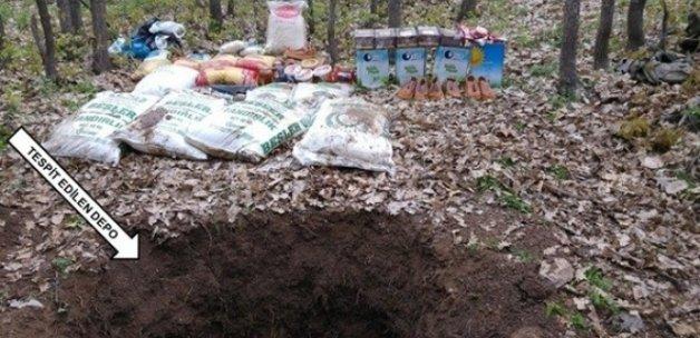Bingöl'de PKK'ya ait üç depo bulundu
