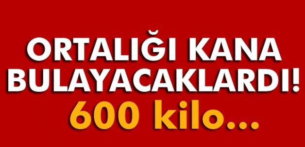 Bitlis'te 600 kilo el yapımı bomba ele geçirildi