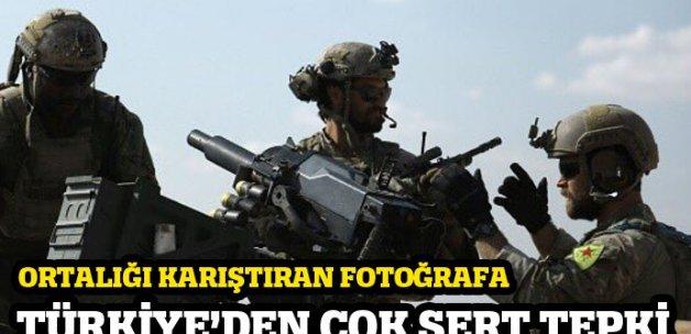 Çavuşoğlu'ndan ABD askerlerinin YPG arması kullanmasına tepki