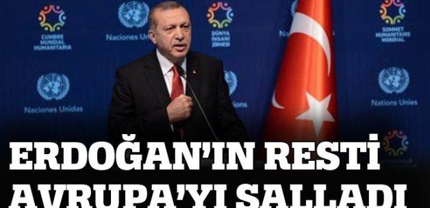 Cumhurbaşkanı Erdoğan'ın 'Vize' resti dış basında