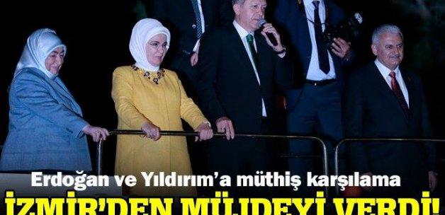 Cumhurbaşkanı Erdoğan ve Başbakan Yıldırım İzmir'de konuştu!