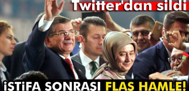 Davutoğlu istifa etti, Twitter'dan ünvanlarını kaldırdı
