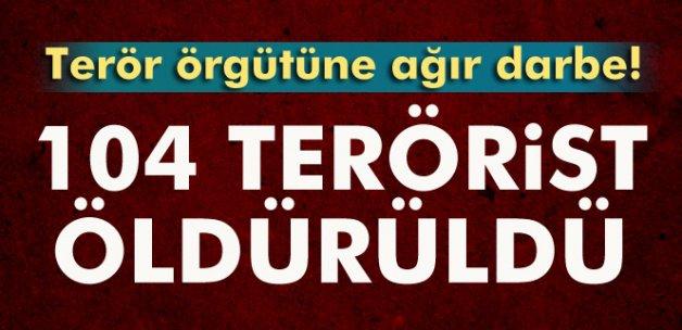 DEAŞ'a büyük darbe! 104 terörist öldürüldü