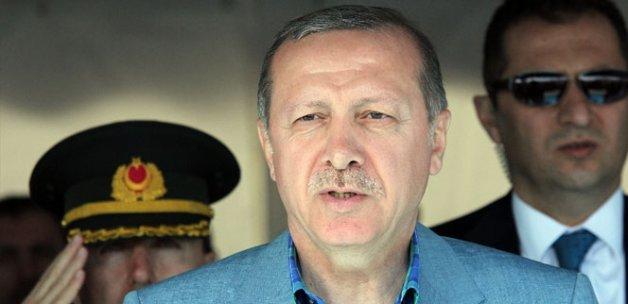 Erdoğan, 3. havalimanı inşaat çalışmalarını yerinde inceledi
