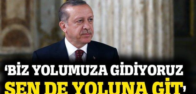 Erdoğan'dan AB'ye vize çıkışı: Biz yolumuza gidiyoruz sen de yoluna git