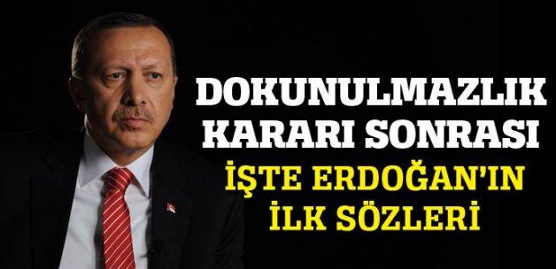 Erdoğan'dan dokunulmazlık kararı sonrası ilk yorum