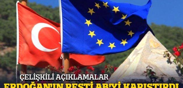 Erdoğan'ın resti AB'nin içerisinde kriz çıkardı