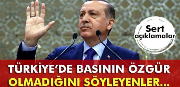 Erdoğan: 'Türkiye'de basının özgür olmadığını söyleyenler...'