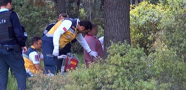 Eşine veda mektubu bırakıp kendini ağaca astı