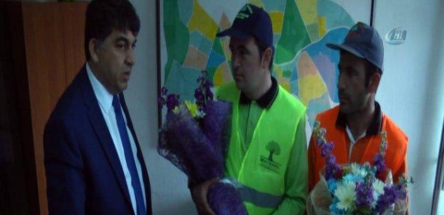 Güvenlik kameralarına yansıyan patlamadan kurtulan işçiler, olayı anlattı