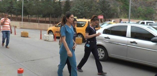Hastanede hemşireye darp