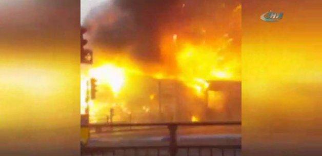 Havai fişek fabrikasında yangın
