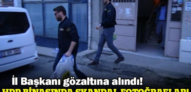HDP Edirne İl Başkanlığında arama