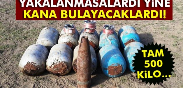 Iğdır'da 500 kilo bomba ele geçirildi