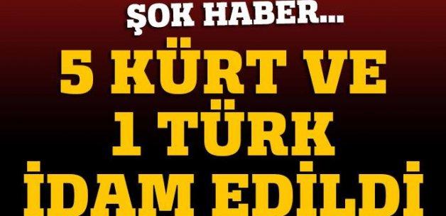 İran'da 5 Kürt ve 1 Türk'e idam