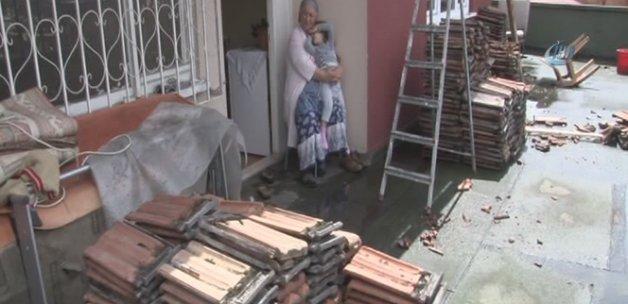 Komşu inadı çatı yıktırdı