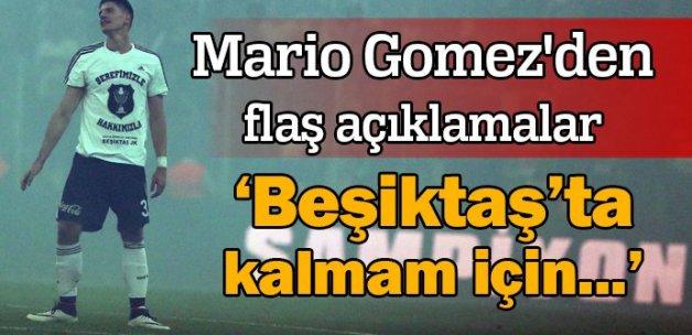 Mario Gomez'den flaş açıklamalar