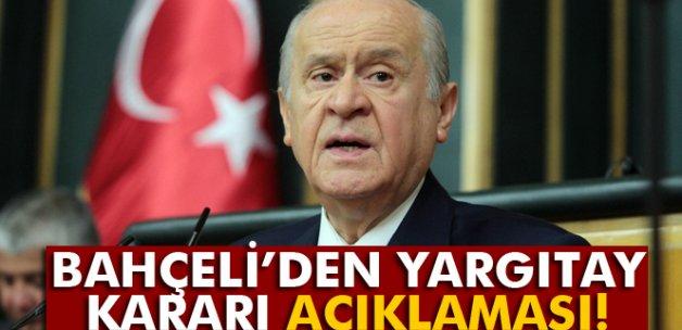MHP Lideri Bahçeli'den yargıtay kararı değerlendirmesi