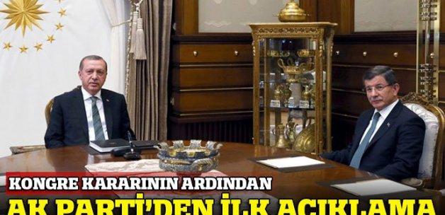 MYK öncesi AK Parti'den ilk açıklama