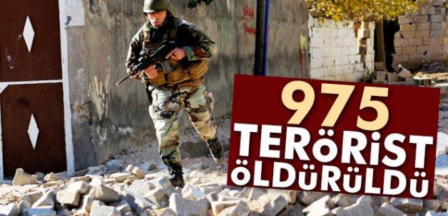 Nusaybin ve Şırnak'ta 975 terörist etkisiz hale getirildi