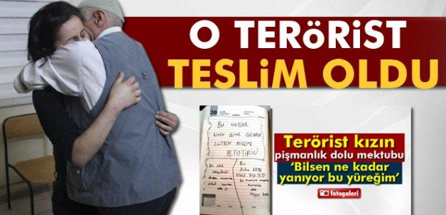 Pişmanlık dolu mektupları yazan terörist kız teslim oldu