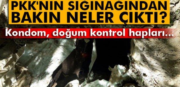 PKK'nın sığınağından bakın neler çıktı?