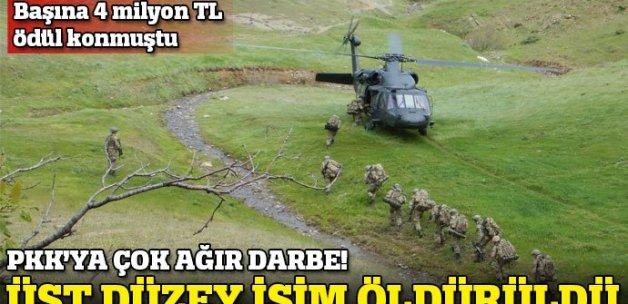 PKK şokta! Bölge sorumlusu terörist öldürüldü