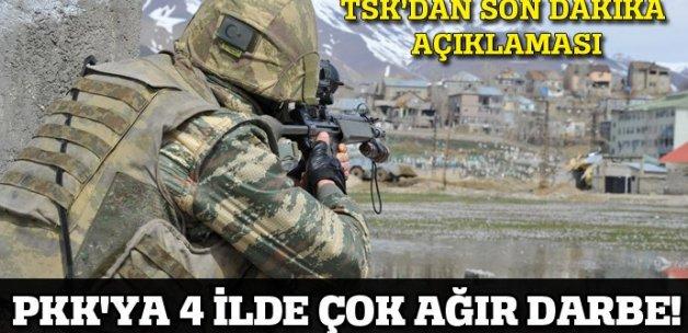 PKK'ya 4 ilde çok ağır darbe!