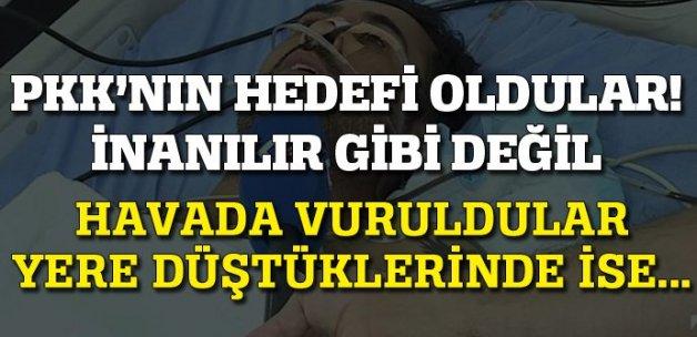 PKK yamaç paraşütü yapan 2 kişiye havadayken ateş etti