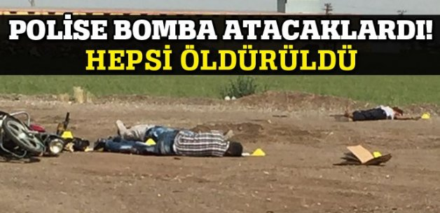Polise bombalı saldırı girişimi, 4 terörist öldürüldü