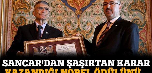 Prof. Dr. Sancar Nobel'i üniversitesine bağışladı
