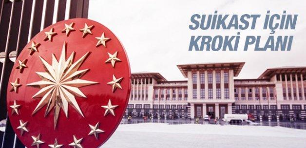 Saldırı için Beştepe'nin krokisi çıkartılmış