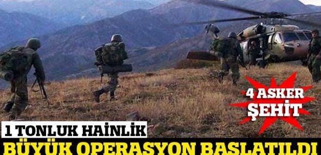 Şemdinli'de 4 şehidin ardından büyük operasyon
