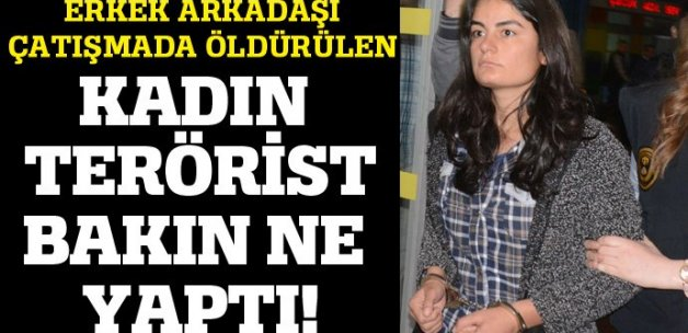 Sevgilisi çatışmada ölen kadın terörist bakın ne yaptı!