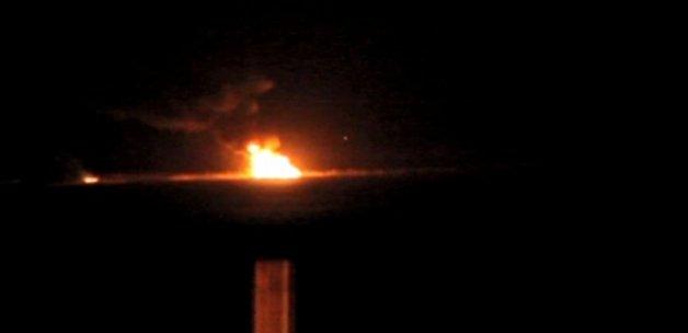 Sınırda tank yandı!