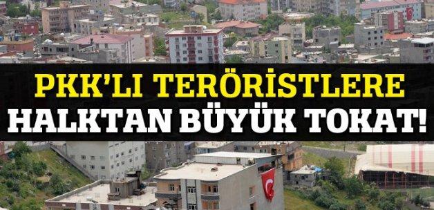 Şırnak'ta operasyonlara bayraklı destek