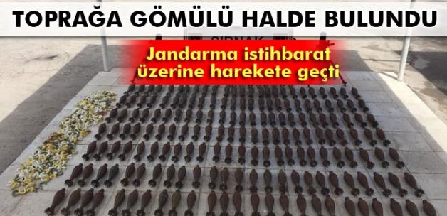 Şırnak'ta 187 adet havan topu ele geçirildi