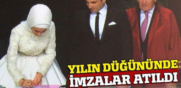 Sümeyye Erdoğan ve Selçuk Bayraktar imzayı attı